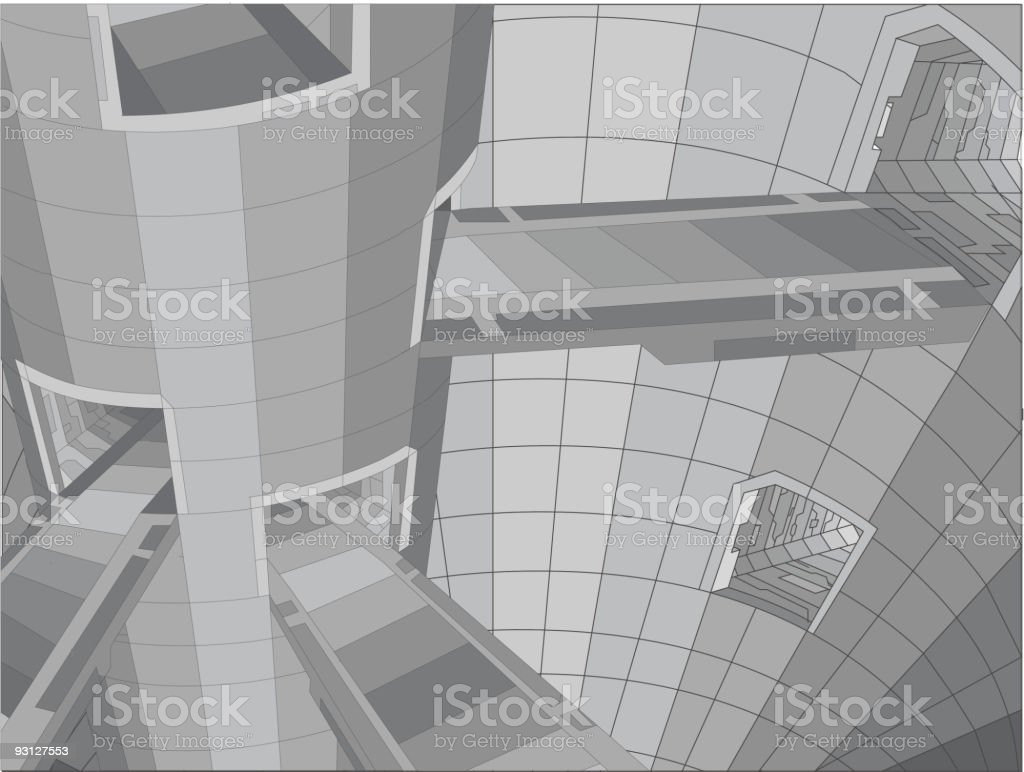 future building structure royalty-free stock vector art