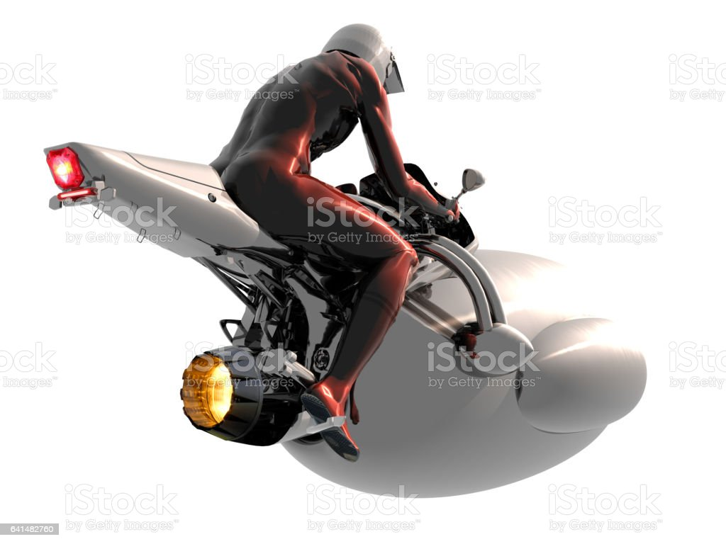 Futuristic Air Travel Vehicle vector art illustration
