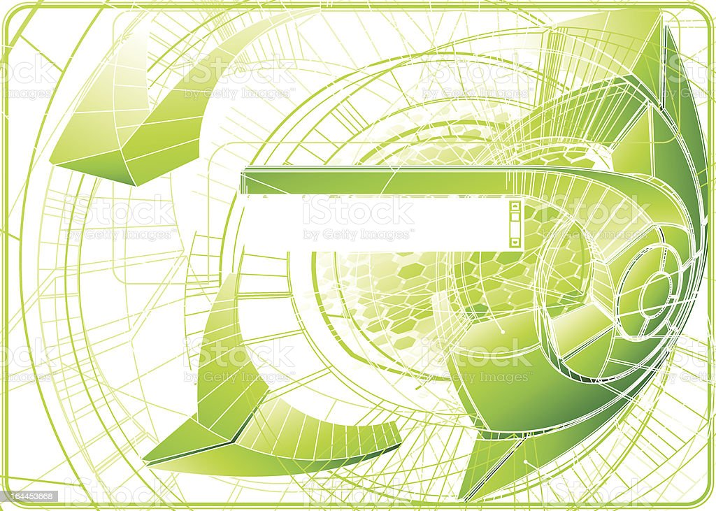 Futuristic background with stylized copy space. royalty-free stock vector art