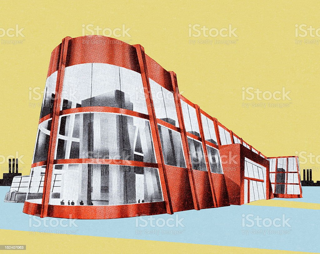 Futuristic Building royalty-free stock vector art