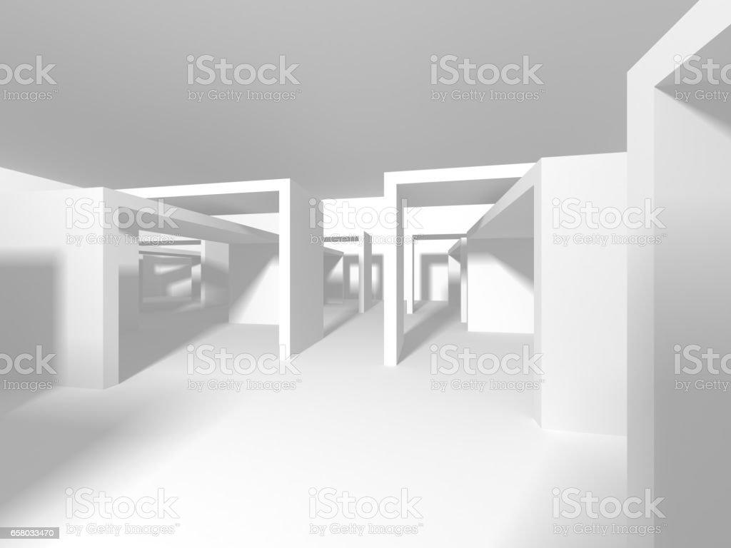Futuristic White Architecture Design Background Stock Vector Art