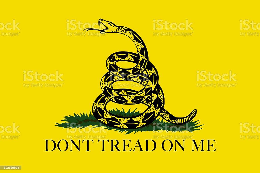 Gadsden Don't Tread On Me Flag, Authentic version vector art illustration