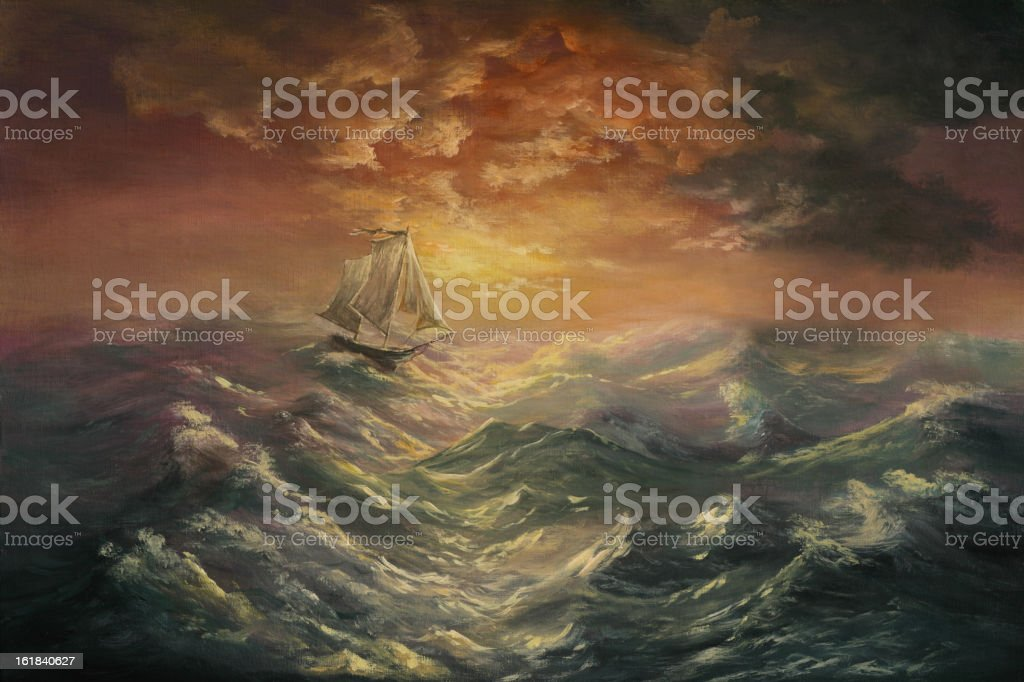 gale-force wind royalty-free stock vector art