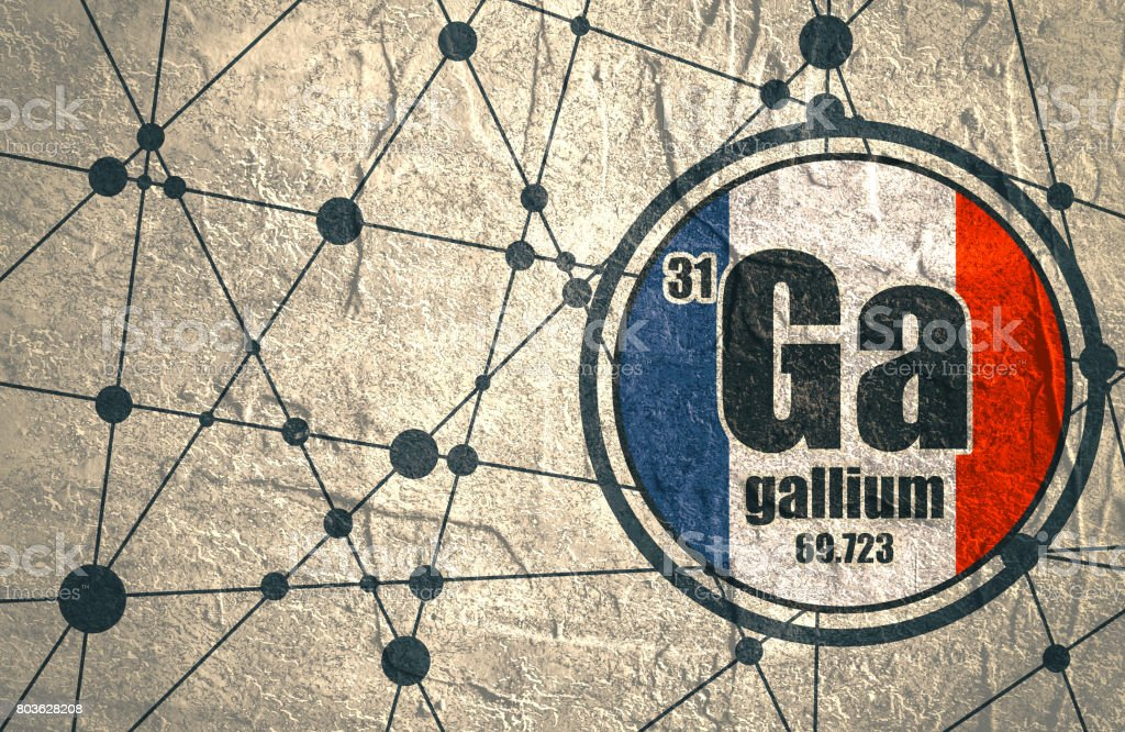 Gallium chemical element. vector art illustration