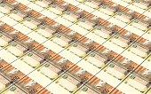 Gambian dalasi bills stacked background.