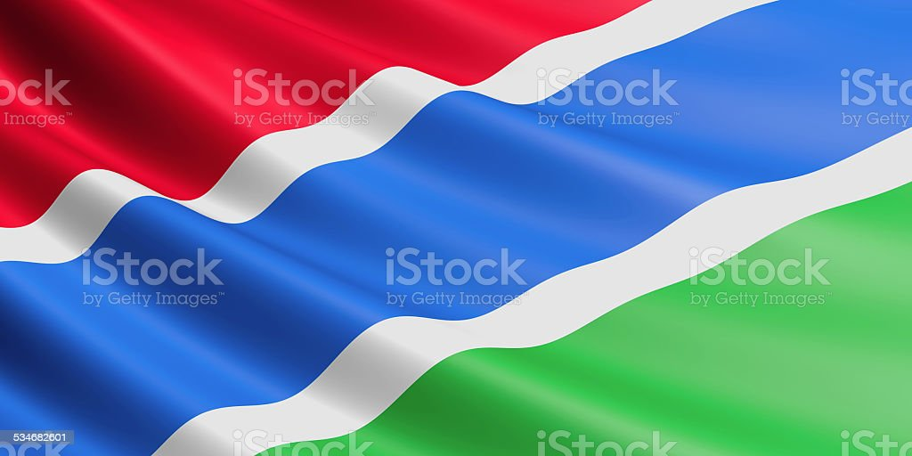 Gambian flag. royalty-free stock vector art