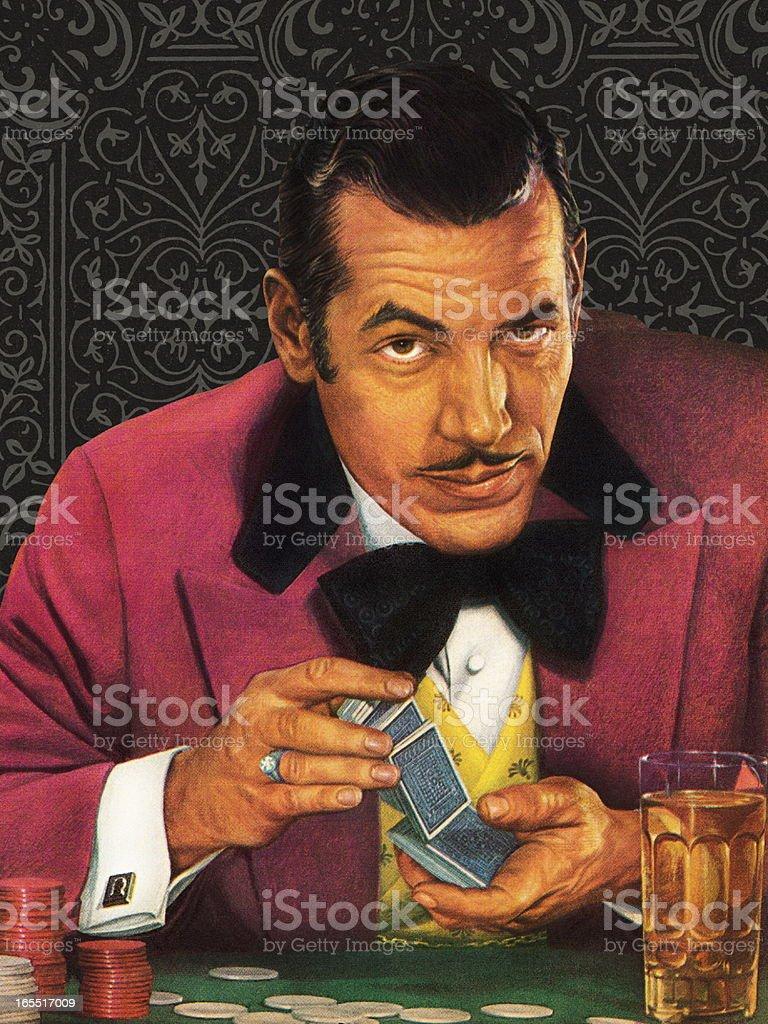 Gambler Playing Cards vector art illustration