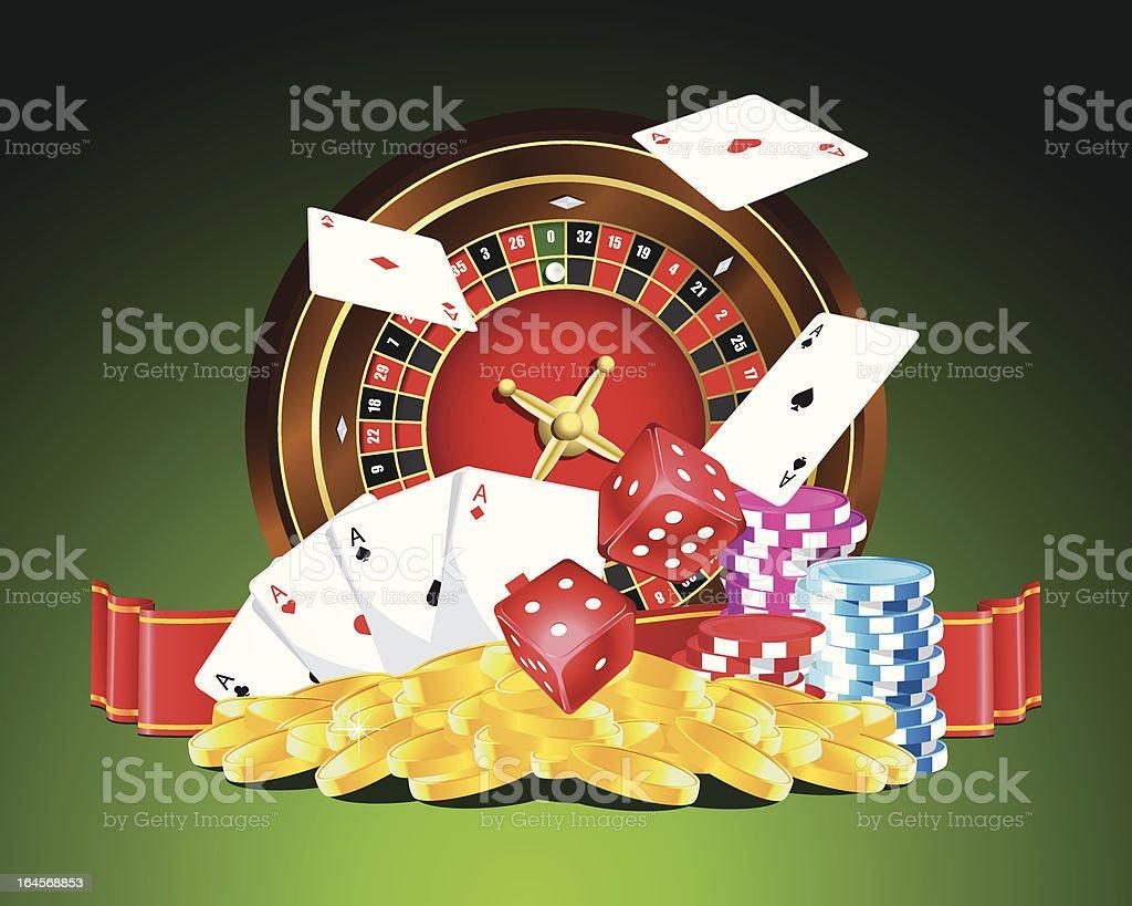 Gambling vector illustration royalty-free stock vector art