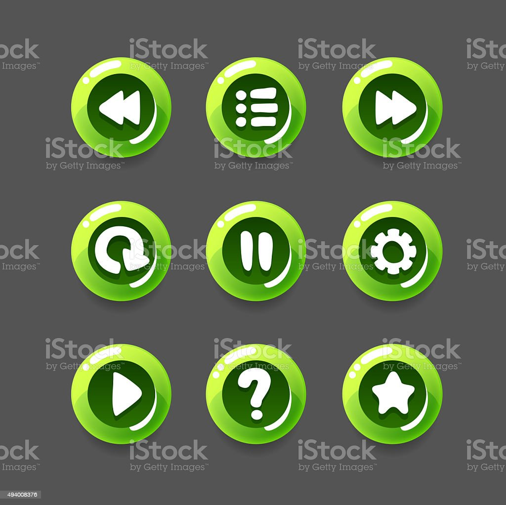 Game Button Set stock photo