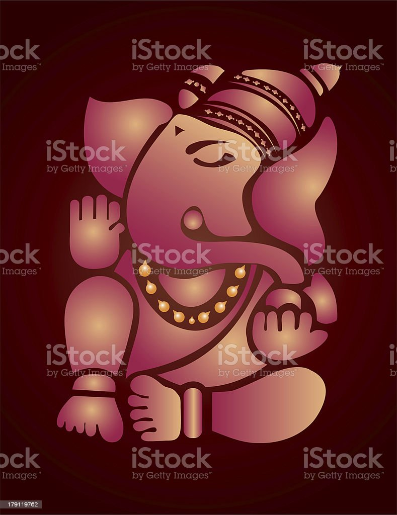 Ganesh illustration royalty-free stock vector art