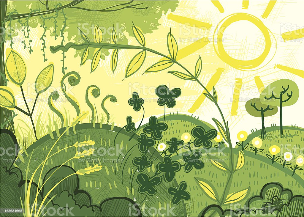 Garden Abstract vector art illustration