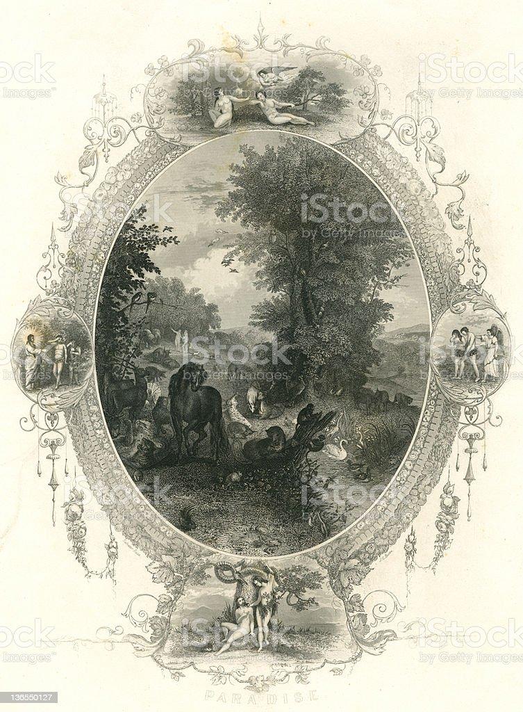 Garden of eden royalty-free stock vector art