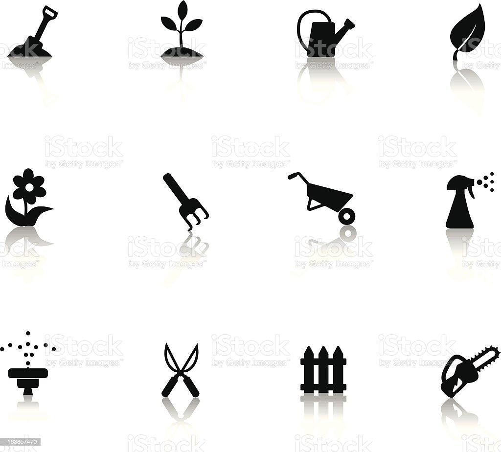 Ogrodnictwo ikony stockowa ilustracja wektorowa royalty-free