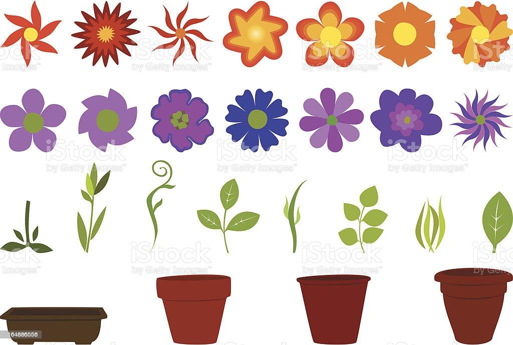 Gardening vector art illustration
