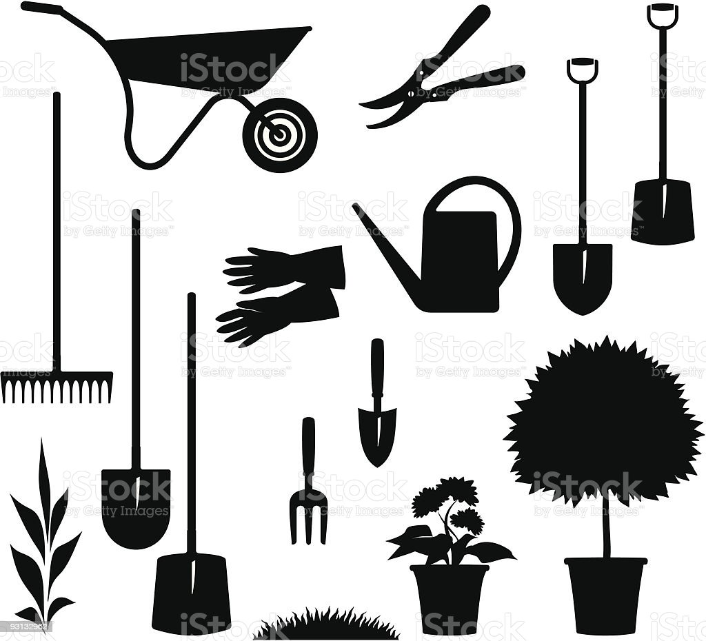 Gardening Items – Vector illustration royalty-free stock vector art