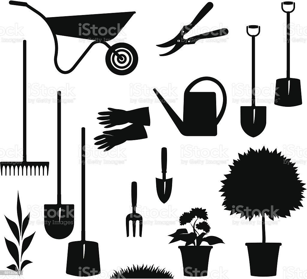 Gardening Items – Vector illustration vector art illustration