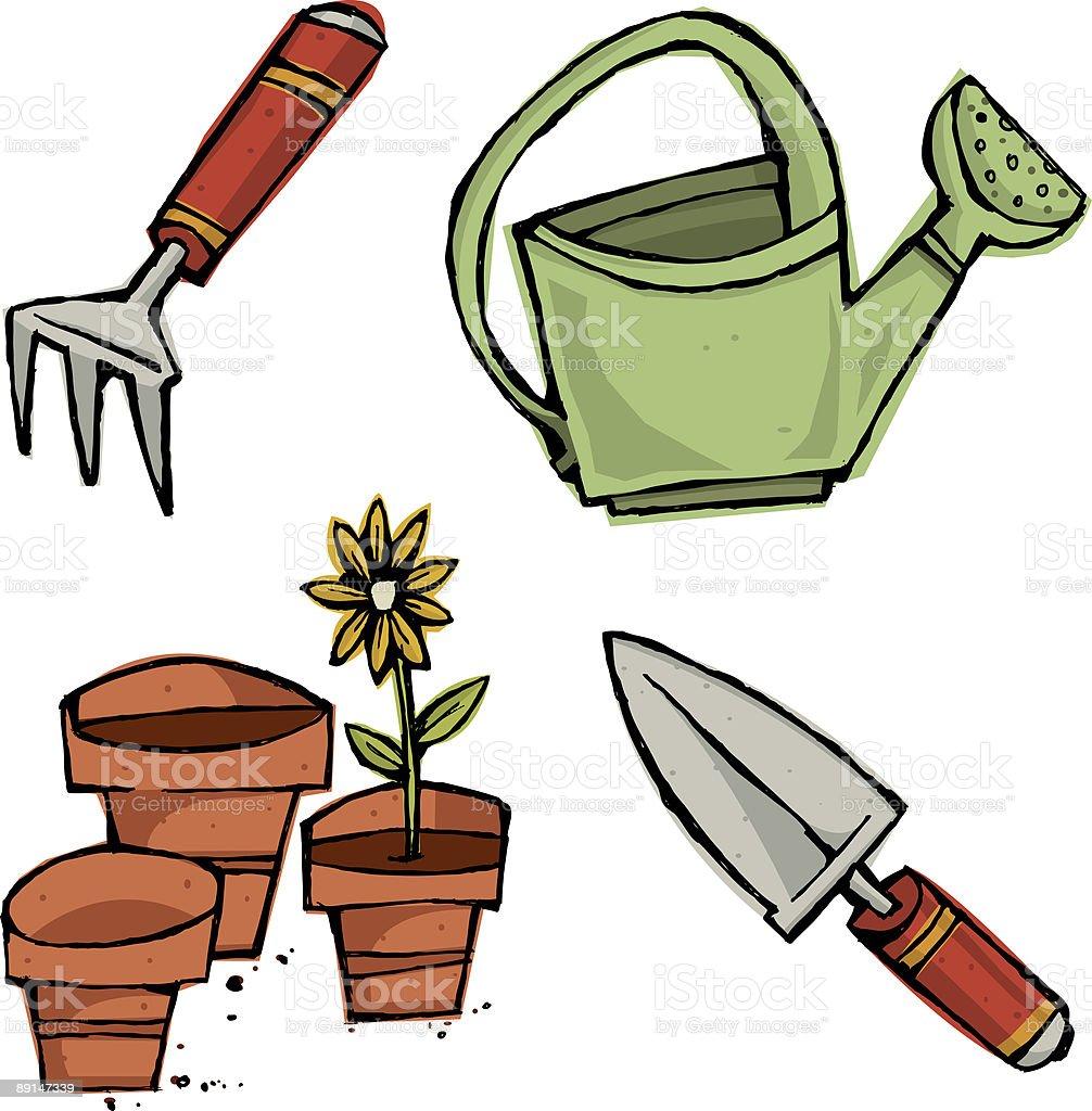 Gardening Tools royalty-free stock vector art
