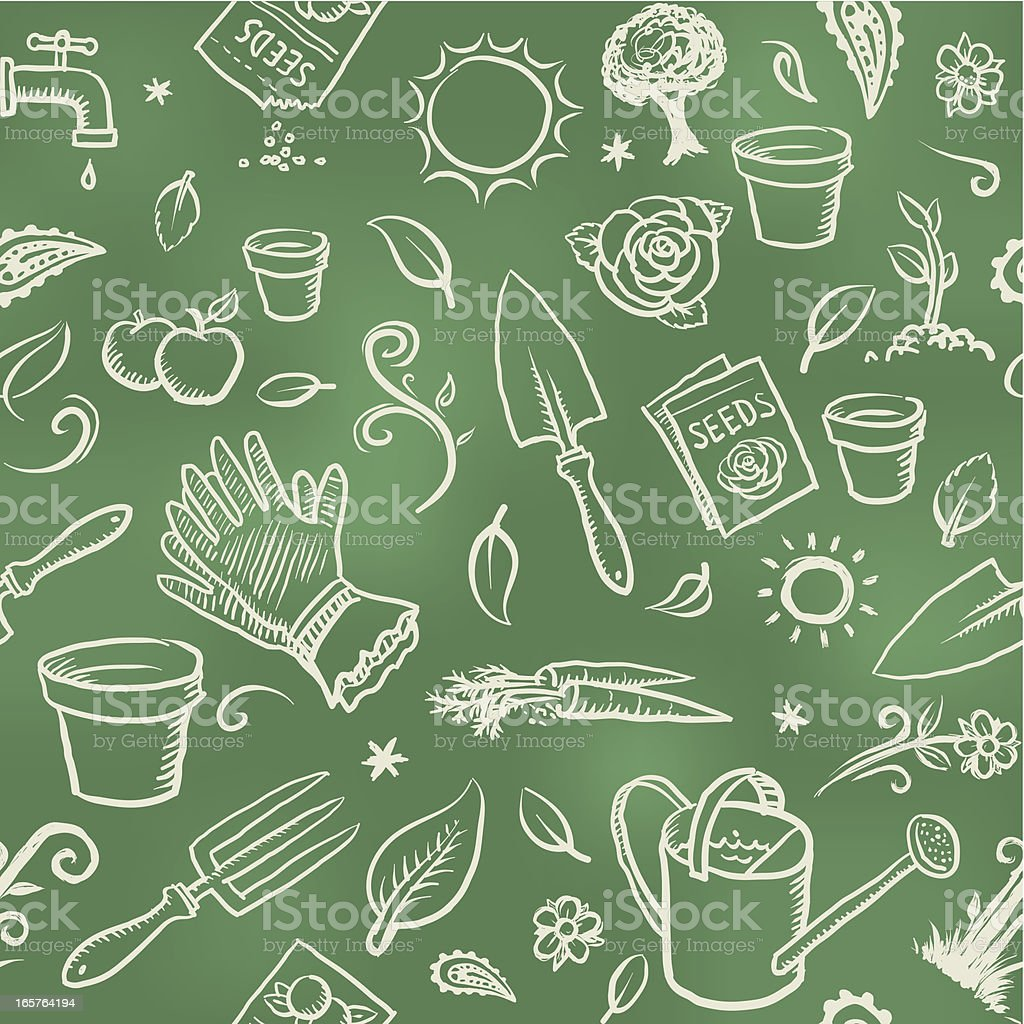 Gardening wallpaper background vector art illustration
