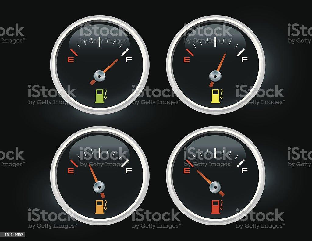 Gas Gauge royalty-free stock vector art