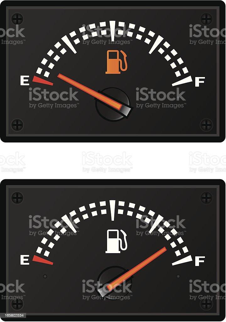 gas gauges royalty-free stock vector art