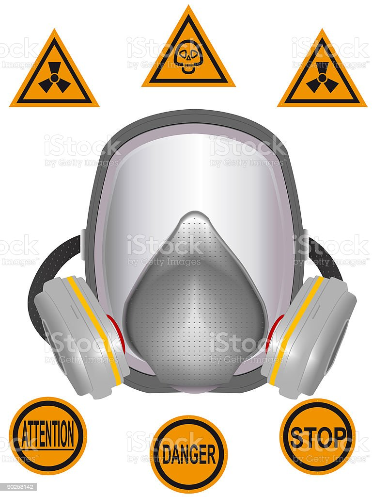 Gas mask royalty-free stock vector art