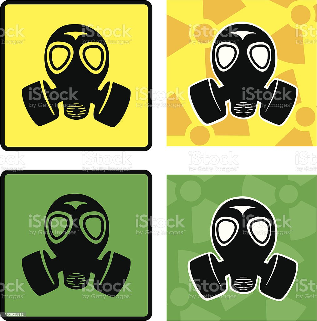 gas masks royalty-free stock vector art