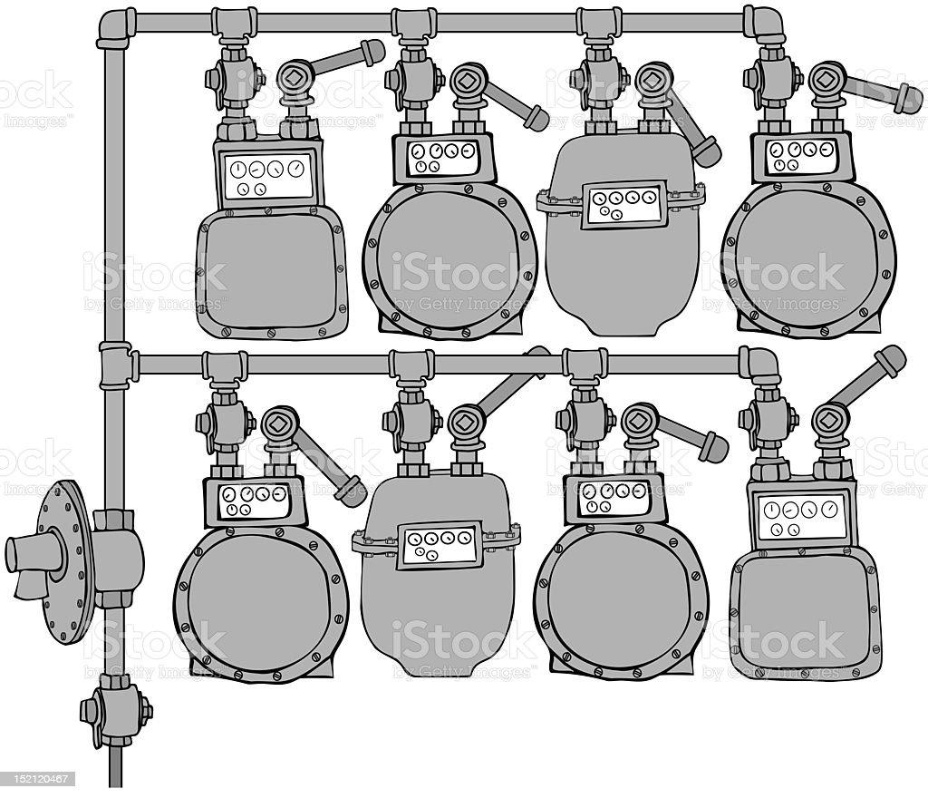 Gas Meter Header royalty-free stock vector art