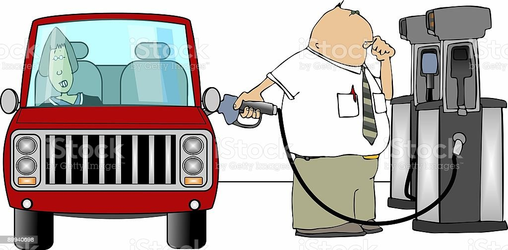 Gasoline fillup royalty-free stock vector art