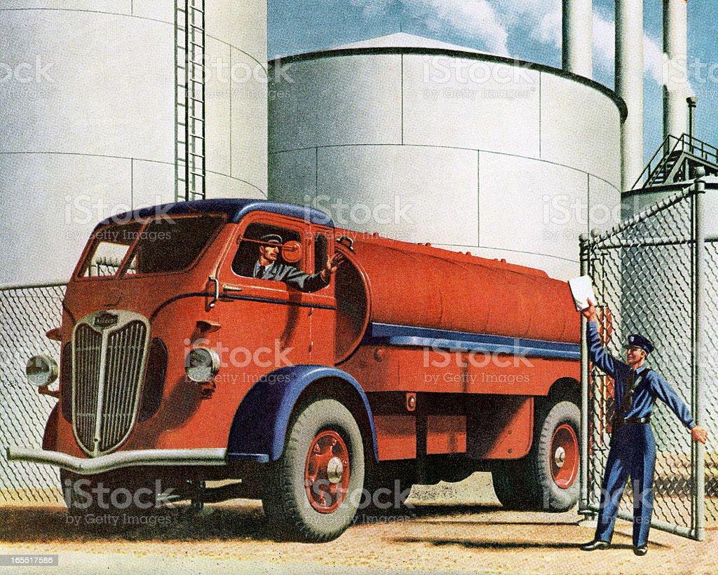 Gasoline Truck vector art illustration