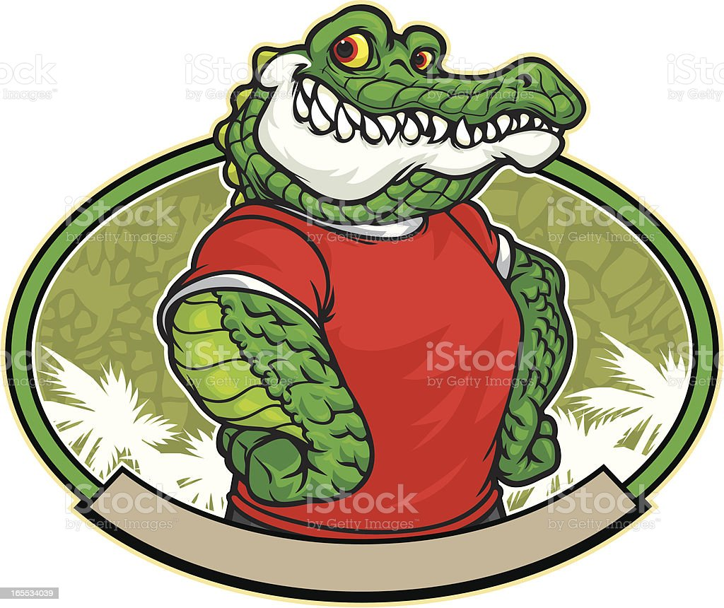 Gator Dude vector art illustration