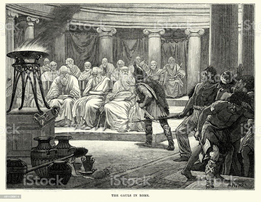 Gauls in Rome vector art illustration