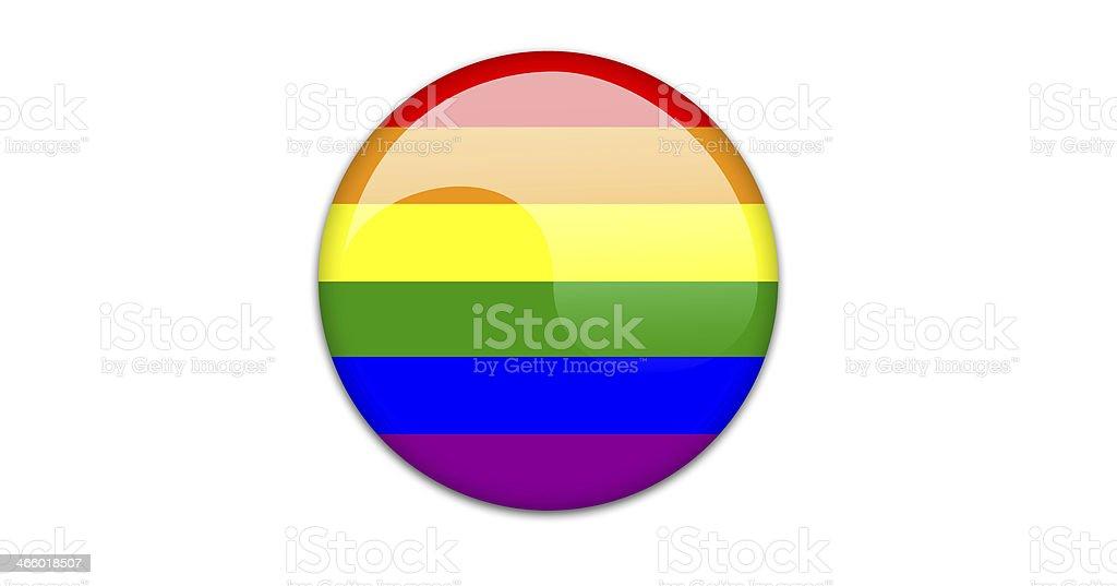 Gay flag badge. royalty-free stock vector art