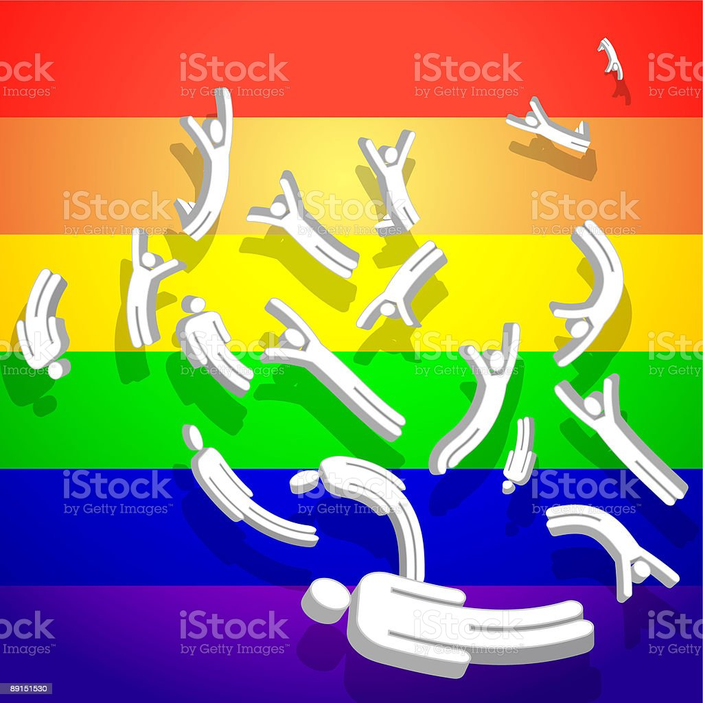 Gay pride background royalty-free stock vector art