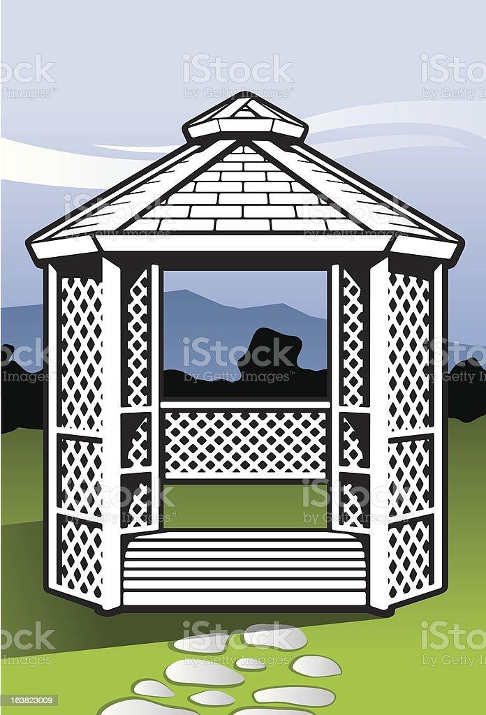 Gazebo vector art illustration