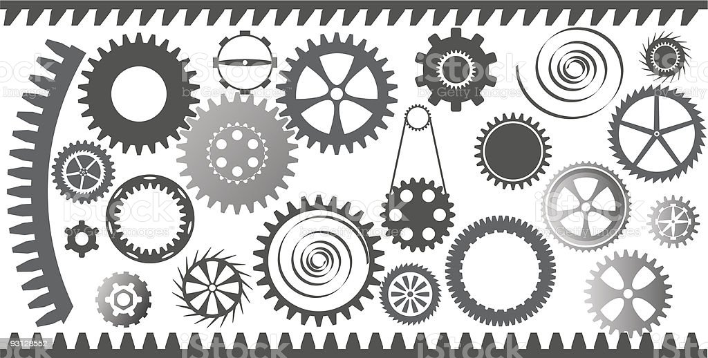 gear sets royalty-free stock vector art