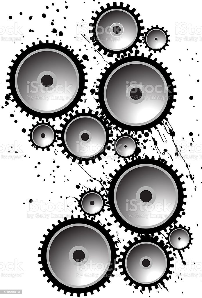 Gears and Grease royalty-free stock vector art