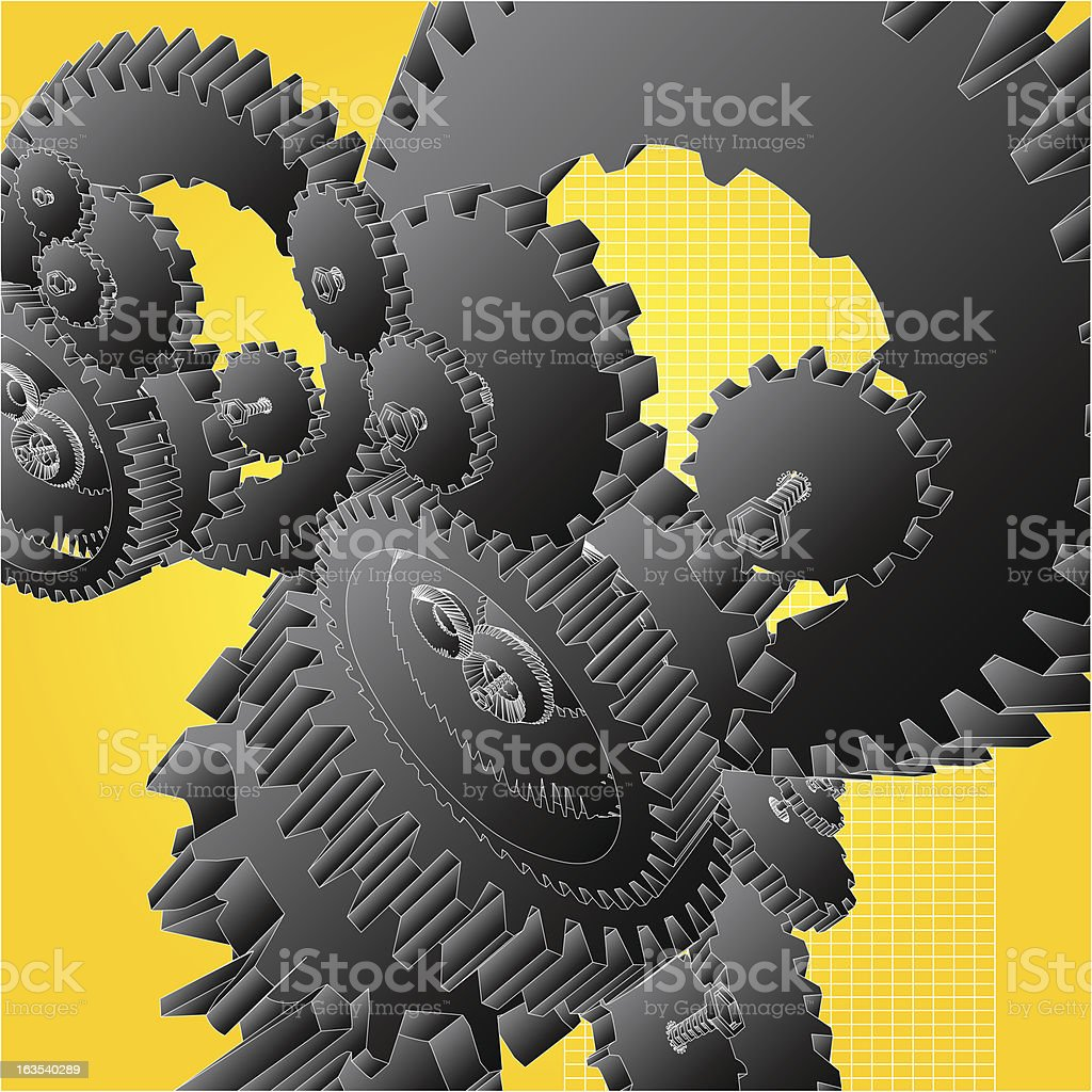 Gears of Industry royalty-free stock vector art