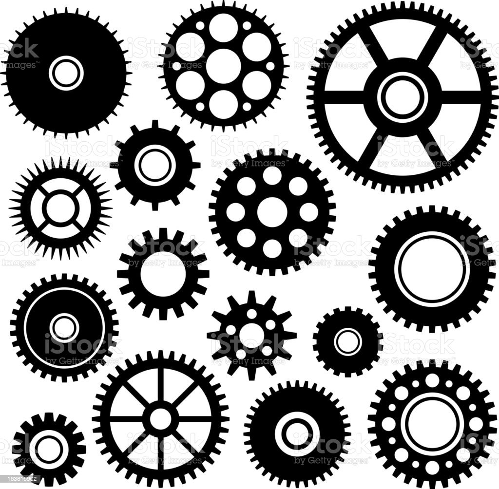 Gears1 royalty-free stock vector art