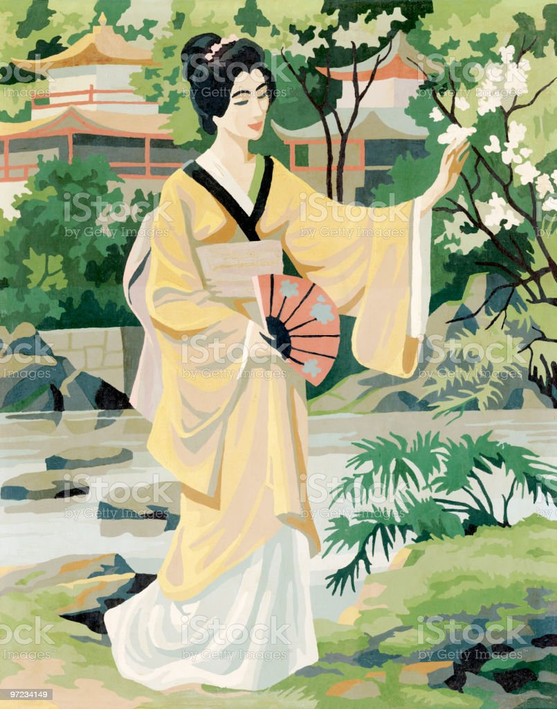 Geisha royalty-free stock vector art