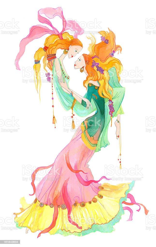 Gemini. Astrology Sign. vector art illustration