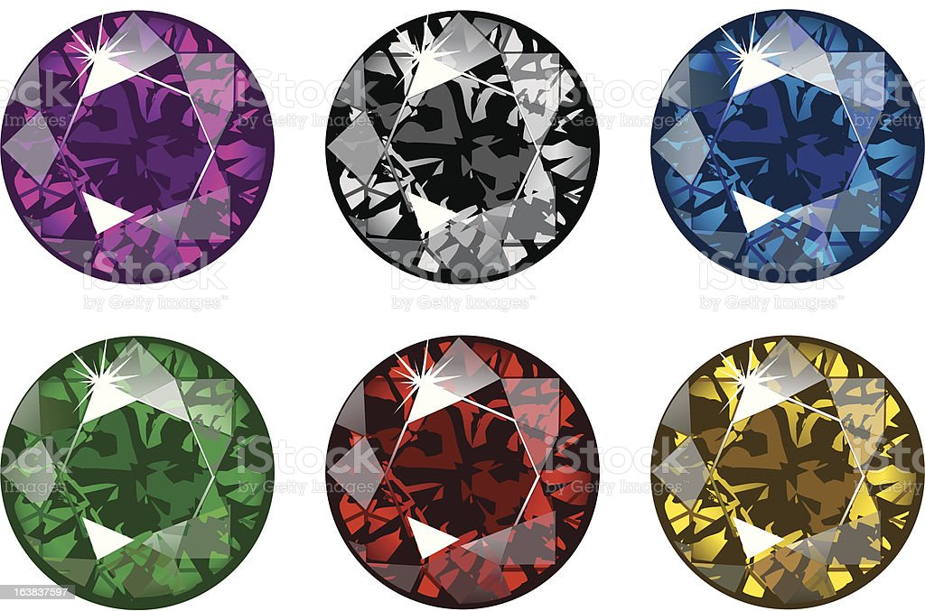Gems royalty-free stock vector art