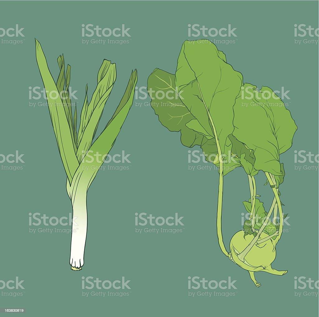 Gemüse royalty-free stock vector art