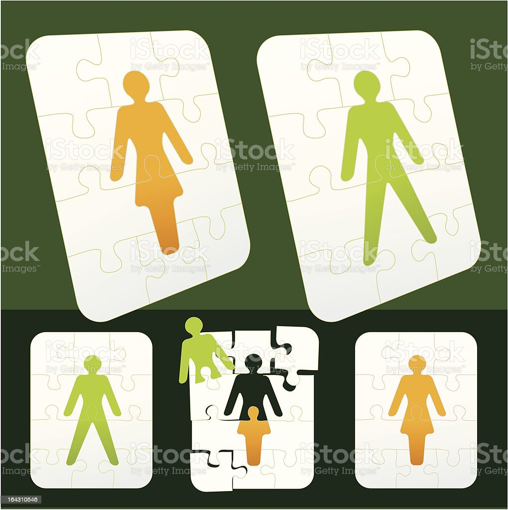 gender puzzle royalty-free stock vector art