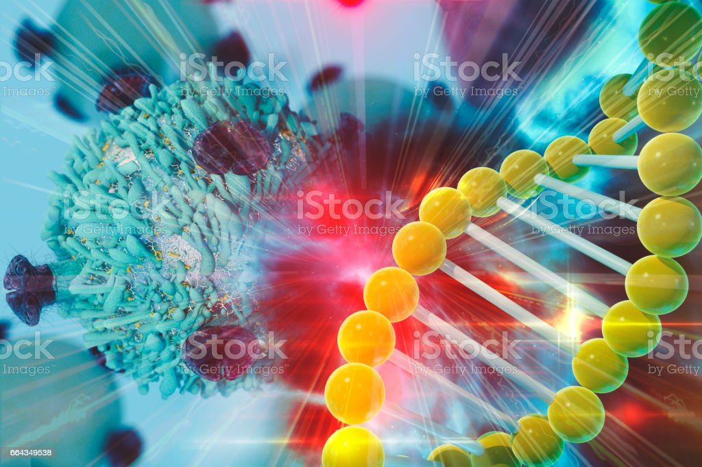 Gene Therapy for Cancer Treatment Concept stock photo