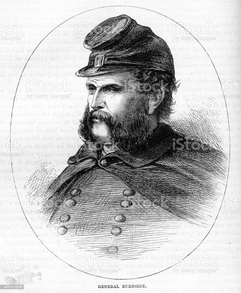 General Ambrose Burnside royalty-free stock vector art