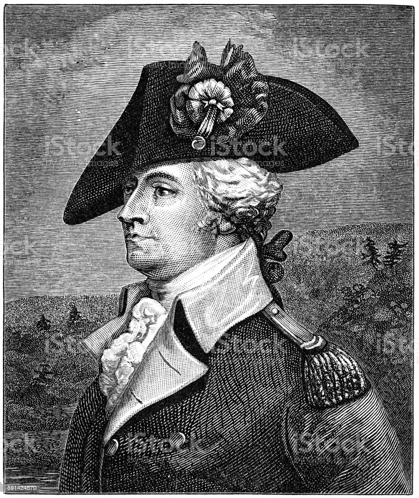 General Anthony Wayne vector art illustration