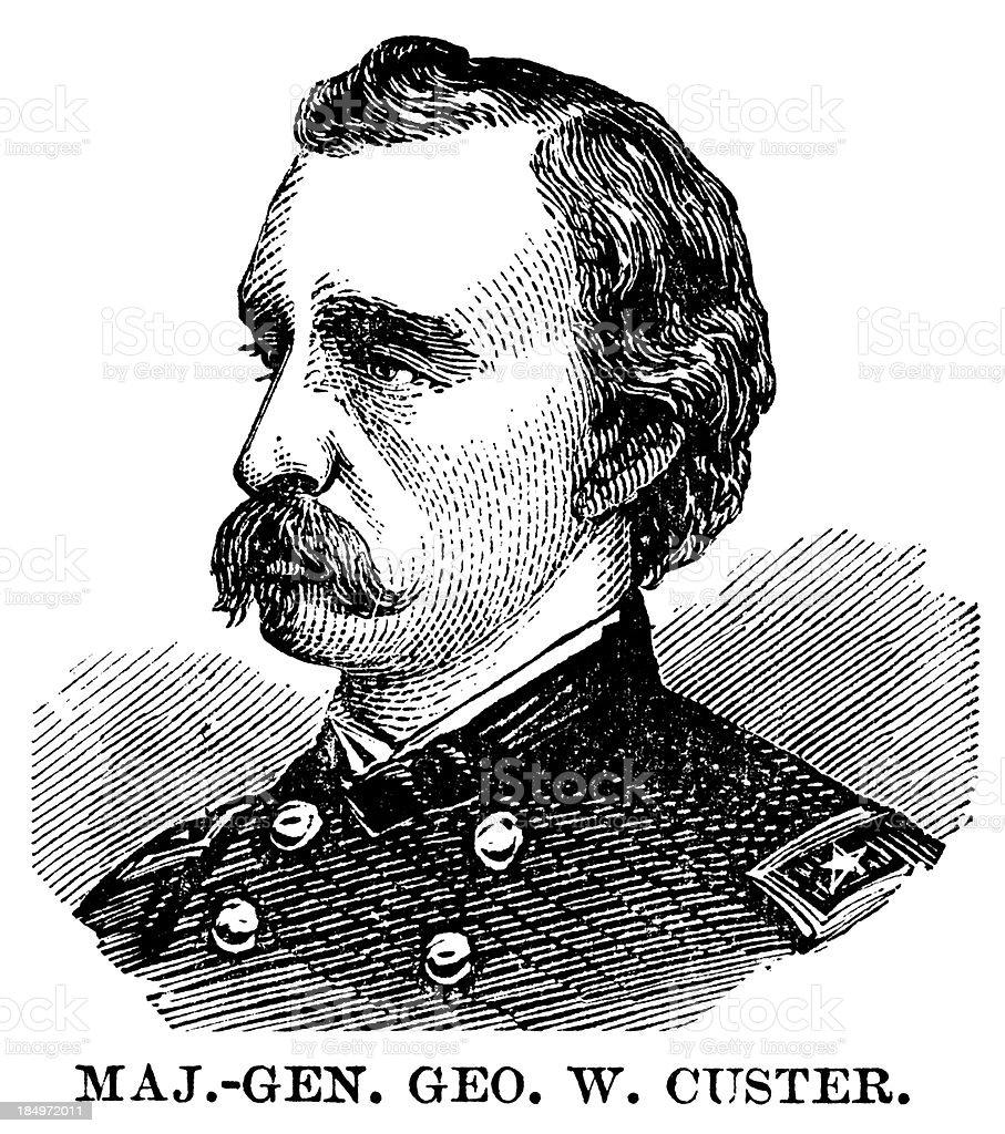 General Custer vector art illustration