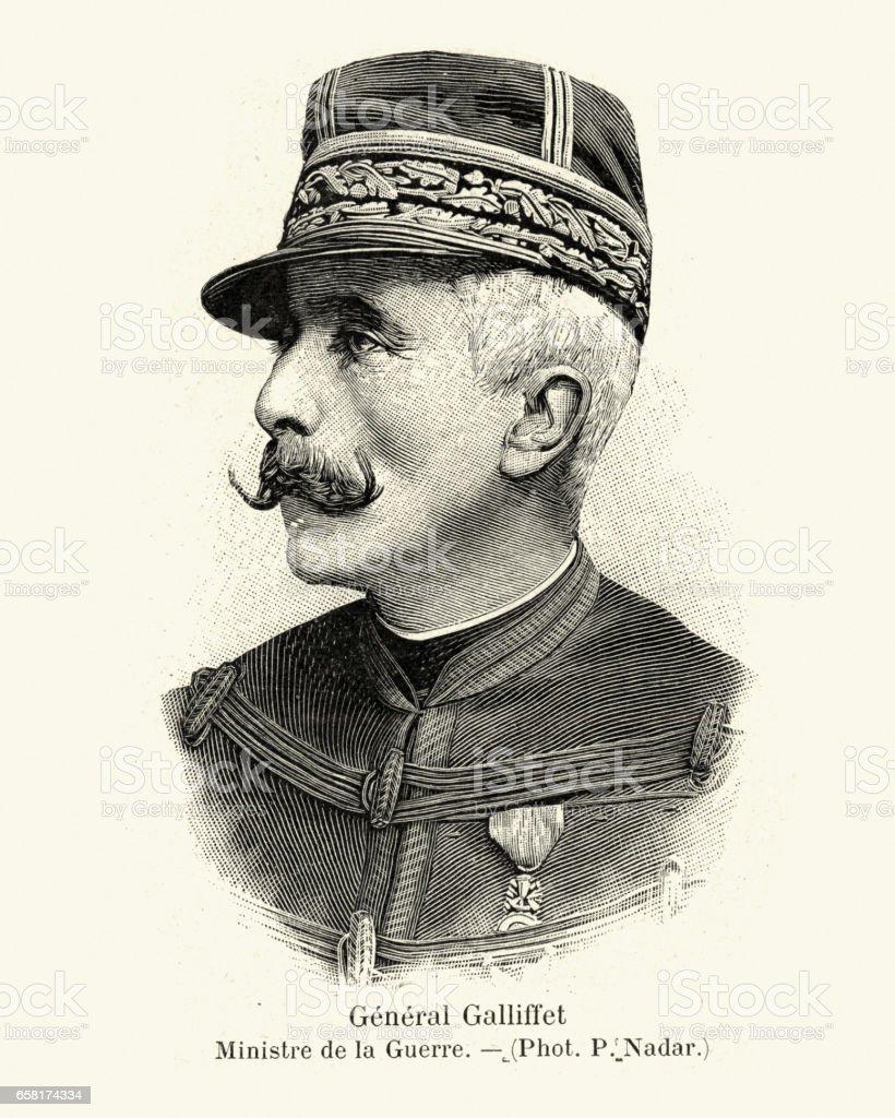 General Gaston Alexandre Auguste, Marquis de Galliffet vector art illustration