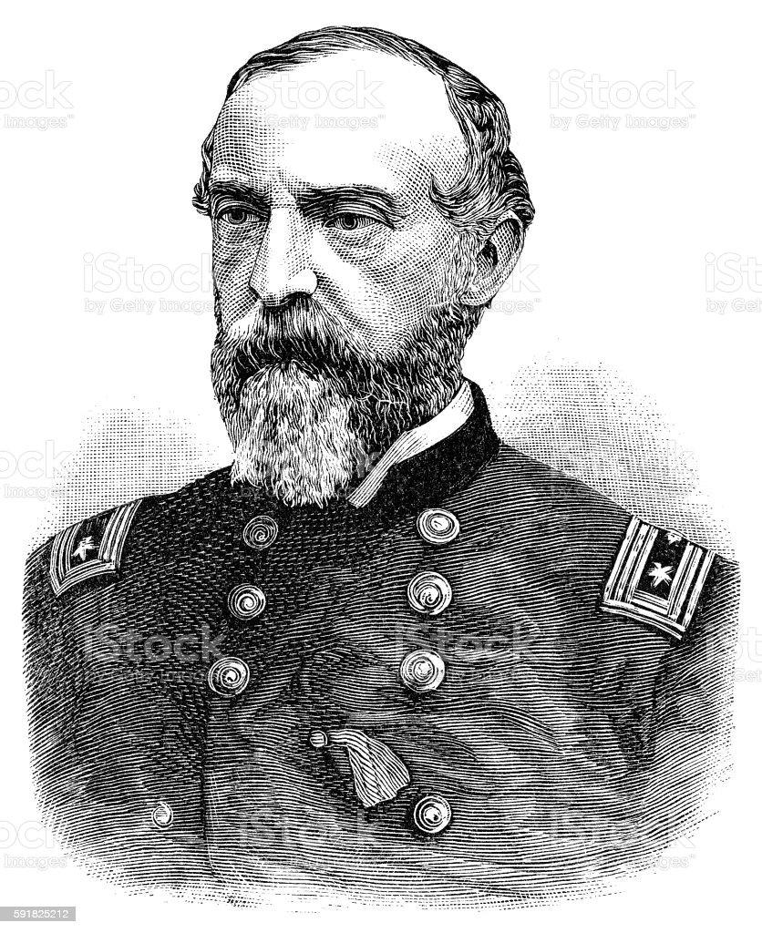 General George G. Meade vector art illustration