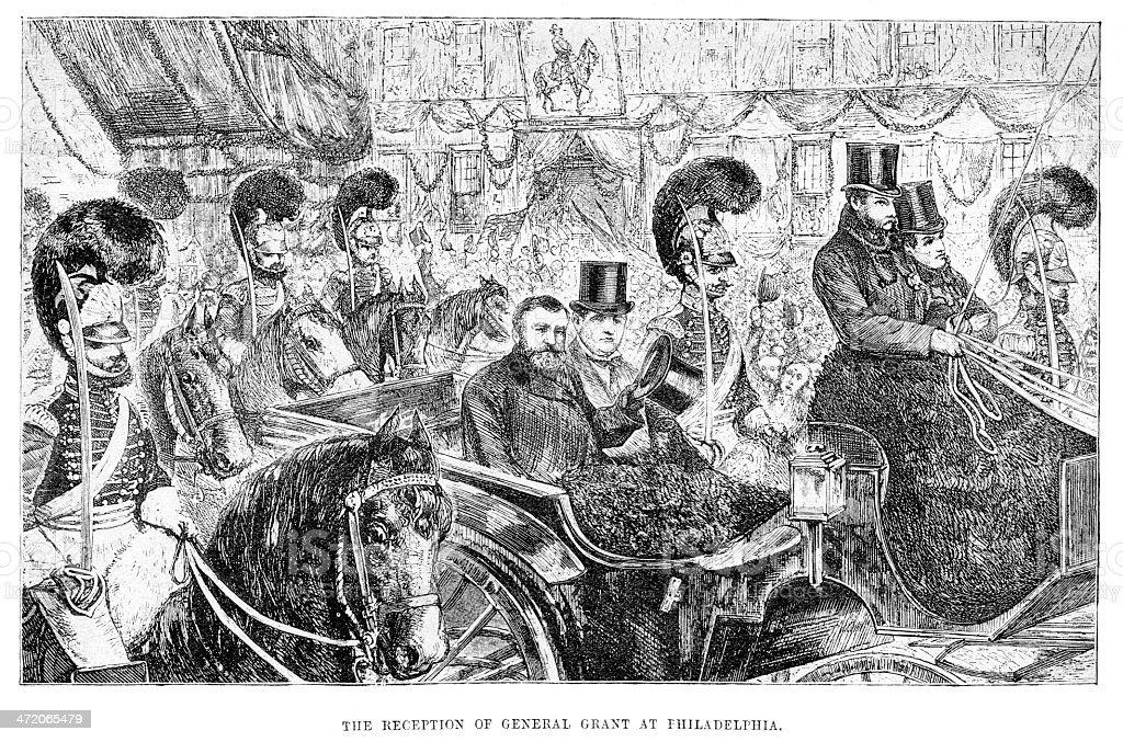 General Grant at Philadelphia royalty-free stock vector art
